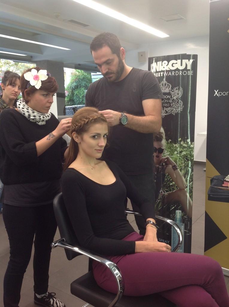 Πρόβα hair styling από το Toni & Guy με τους σχεδιαστές της 14ης Athens Xclusive Designers Week