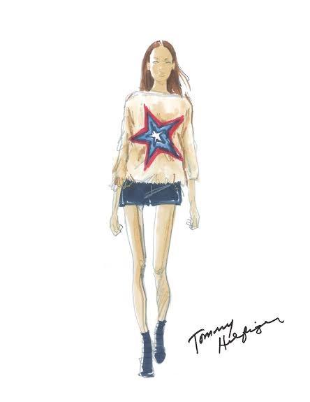 Τα pre-show sketches του Tommy Hilfiger λίγο πριν το fashion show