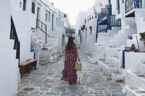 Wanderer at Folegandros